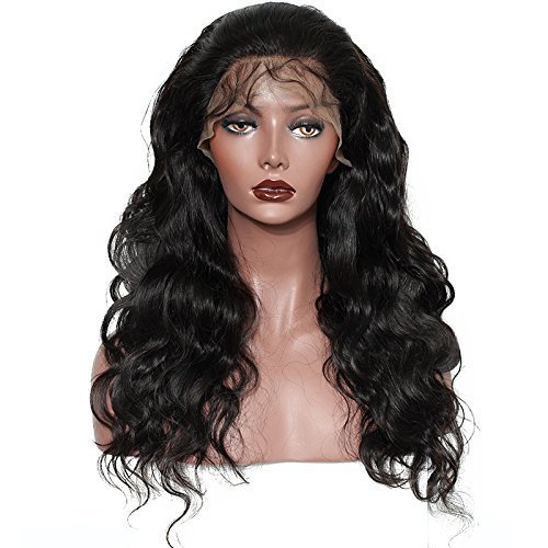 Brazilian Body Wave Lace Front Wigs Glueless Brazilian Virgin Human Hair Wigs Pre Plucked Natural with Baby Hair for Black Women 22 inch by Younsolo (Image #2)