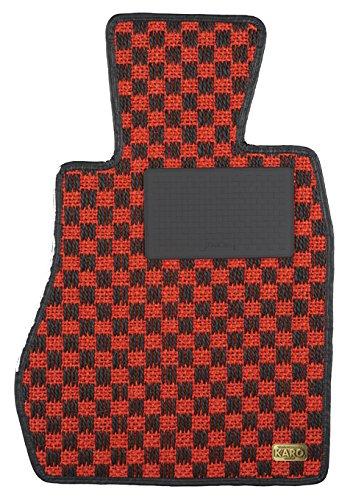 KARO(カロ) フロアマット SISAL レッド/ブラック トヨタ カローラレビンスプリンタートレノ 0022(一台分) B00NV54KL6 SISAL×レッド/ブラック SISAL×レッド/ブラック