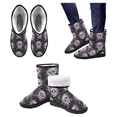 Scarponi Da Neve Womens Interestprint Stivali Invernali Comfort Dal Design Unico Multi 5