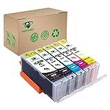 Supricolor 5 Pack Replacement Edible Ink PGI-270XL PGI 270 CLI-271XL CLI 271 for Canon MG6820 MG6821 MG682 MG5720 MG5722