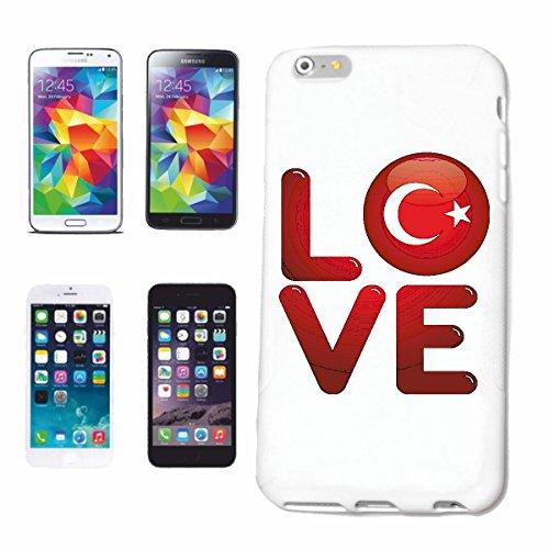 """cas de téléphone iPhone 6S """"J'AIME LA TURQUIE SIDE ANTALYA Izmir ISTANBUL HOLIDAY DESTINATION"""" Hard Case Cover Téléphone Covers Smart Cover pour Apple iPhone en blanc"""