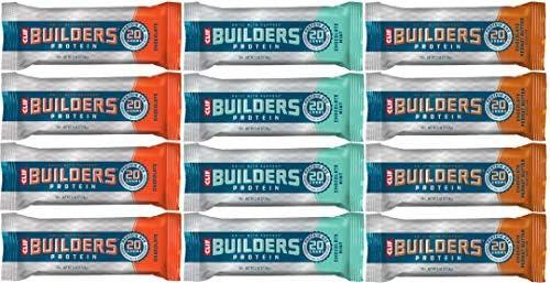 CLIF Builders Proteinriegel 12 x 68 Gramm Probierpaket 4 x Chocolate 4 x Chocolate Mint 4 x Chocolate Peanut Butter