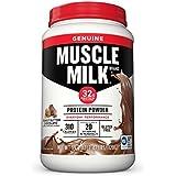 Muscle Milk Genuine Protein Powder, Peanut Butter Chocolate, 32g Protein, 2.47 Pound