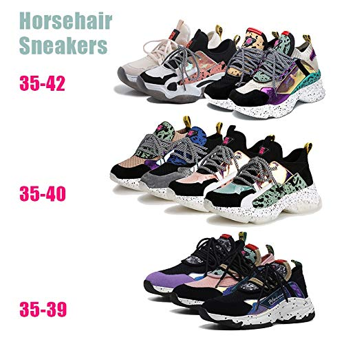 Eaglers New Genuine Leather Suede Sock Sneakers Women Summer Horsehair Decorating High Shoes Women Casual Dad Shoes Woman