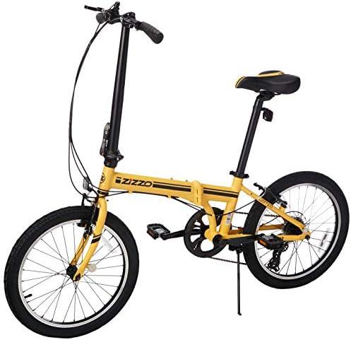 EuroMini ZiZZO Campo - Bicicleta Plegable Shimano de 7 velocidades ...