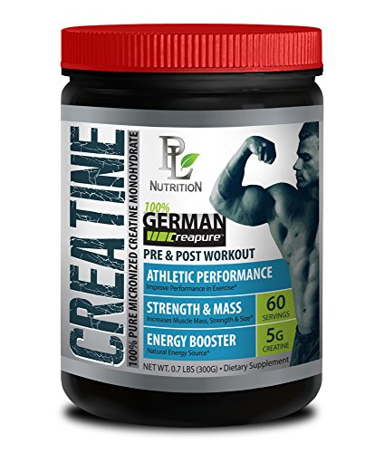 Muscle growth - GERMAN CREATINE POWDER - MICRONIZED CREATINE MONOHYDRATE CREAPURE 300G 60 SERVINGS - Build lean muscle - 1 CAN