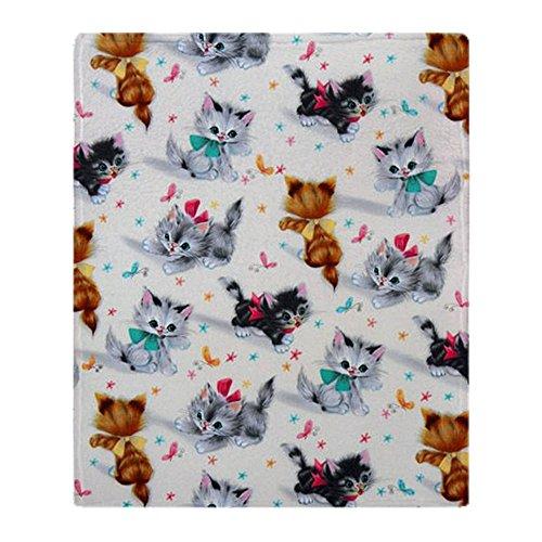 CafePress Cute Playful Kittens Soft Fleece Throw Blanket, 50