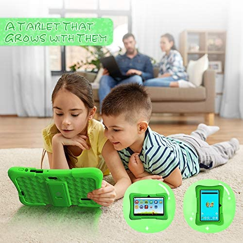 Dragon Touch Y88X Pro 7 Inch Kids Tablets, 2GB RAM 16GB ROM, Android 9.0 Tablet, Kidoz Pre Installed With Disney Contents (More Than $80 Value), Green