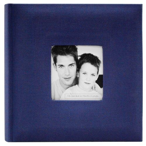 MCS Fashion Fabric 200 Pocket Album, Blue (846511)