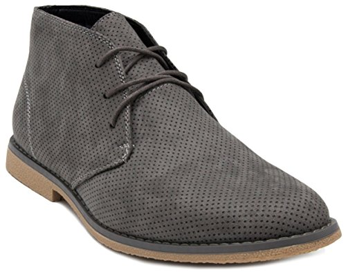 Chukka London Fog Grey Perf Broadstreet Mens Boot qOtZxvUO