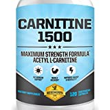 CARNITINE 1500 L-Carnitine Supplement | Highest Potency Acetyl L-Carnitine Supplement For Weight Loss, Mentality, Recovery & Energy. 100% Money Back Guarantee | 120 Vegetarian Caps | By Mesomorph Labs