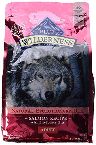 Blue Buffalo Wilderness Grain Free Dry Dog Food, Salmon Recipe, 4.5-Pound Bag