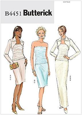 Butterick Patterns b4451 Patrones de Costura para Bolero, Top y ...