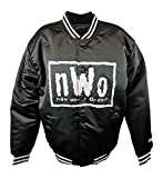 New World Order NWO White Logo Fanimation WWE Black Chalkline Jacket XXL