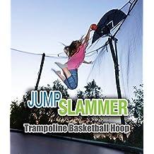 Jump Slammer Trampoline Basketball Hoop | Easy Install | Foam Ball Included | Trampoline Pro