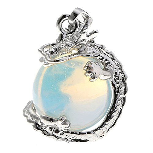 JOVIVI Wrapped Gemstone Pendant Necklace