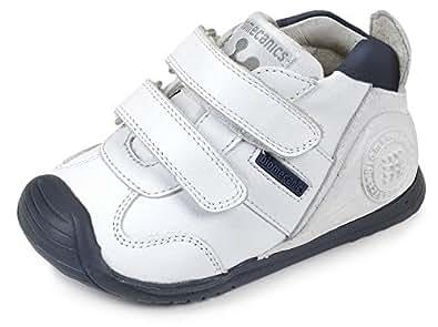 Biomecanics 151157, Zapatillas infantil, Blanco (Blanco/Azul/Sauvage), 18 EU