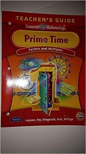 Prime time factors multiples grade 6 teachers guide connected prime time factors multiples grade 6 teachers guide connected mathematics 2 9780133661088 amazon books fandeluxe Image collections