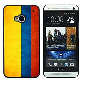 Graphic4You Vintage Colombian Flag of Colombia Design Hard Case Cover for HTC One (M7)