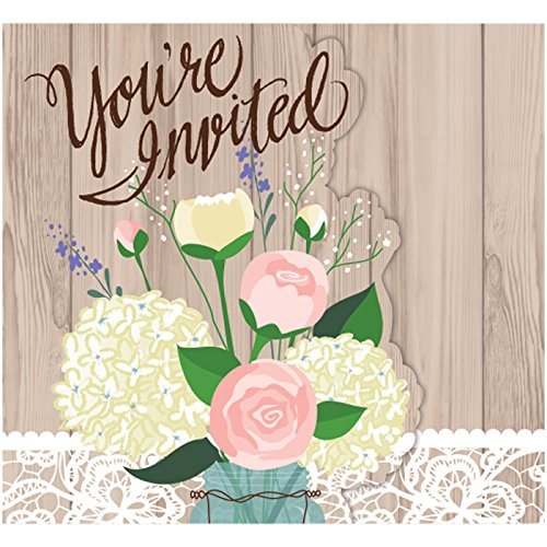 Rustic Wedding Foldover Invitations Pack