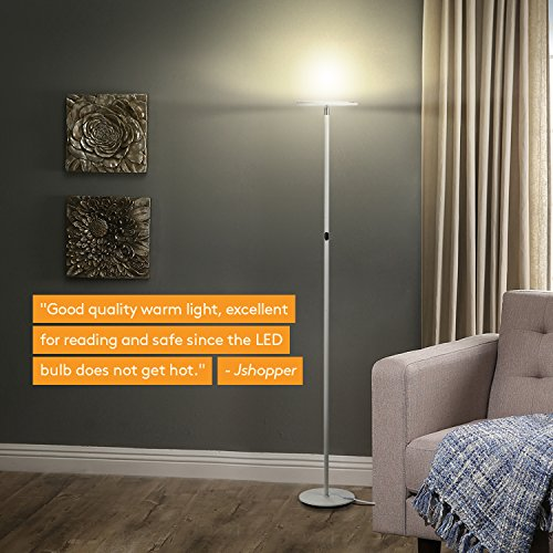 Brightech-SKY-LED-Torchiere-Floor-Lamp-Energy-Saving-Dimmable-Adjustable-Lamp-Reading-Lamp-Modern-Tall-Standing-Pole-Uplight-Lamp-Light-for-Living-Room-Dorm-Bedroom-and-Office