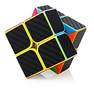 Dreampark Speed Cube Bundle [4 Pack] 2x2 3x3 Megaminx Skewb Carbon Fiber Sticker Magic Cube Puzzle Toy Set of 4