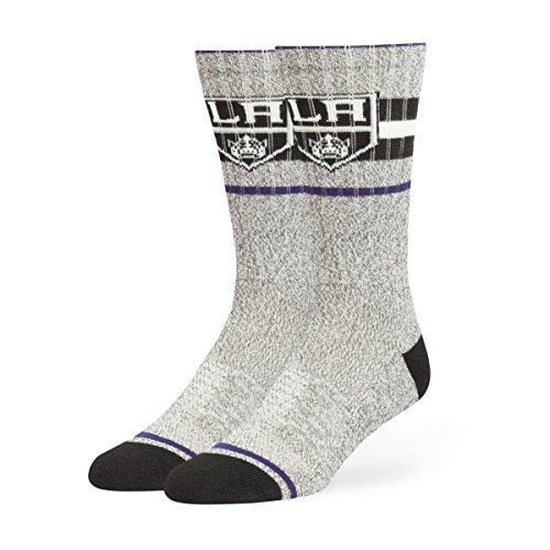 NHL Los Angeles Kings Men's Collins Fuse Crew Socks, Large, Gray