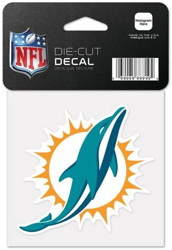 Miami Dolphins Perfect Cut Color Decal 4x4