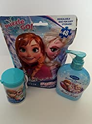Disney Frozen Frosted Berry Hand Soap Antibacterial Hand Wipes and Puzzle Pack
