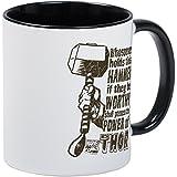 CafePress Marvel Comics Thor Retro Thor's Hammer Mug Unique Coffee Mug, Coffee Cup