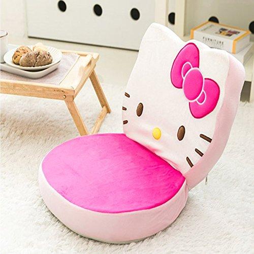 Hello Kitty Floor Chair hellokitty face folding chair legless chair Seat Cushion by Hello Kitty