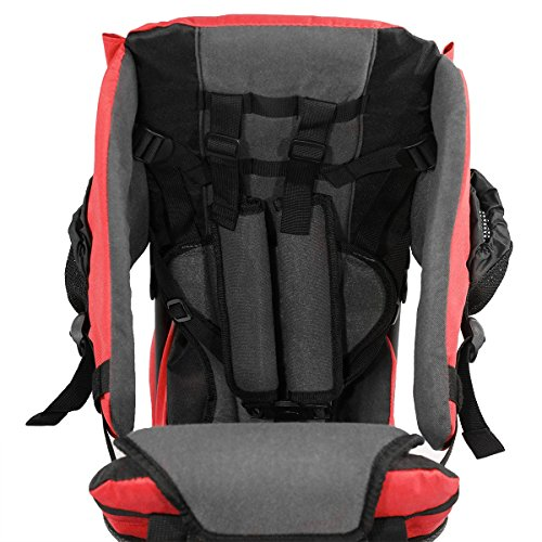 Baby Back Pack Cross Country Carrier Stand Child Kid Sun Shade Visor Shield Red by Clevr (Image #5)