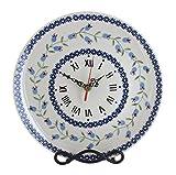 asd cookware - Blue Rose Polish Pottery Tulip Clock