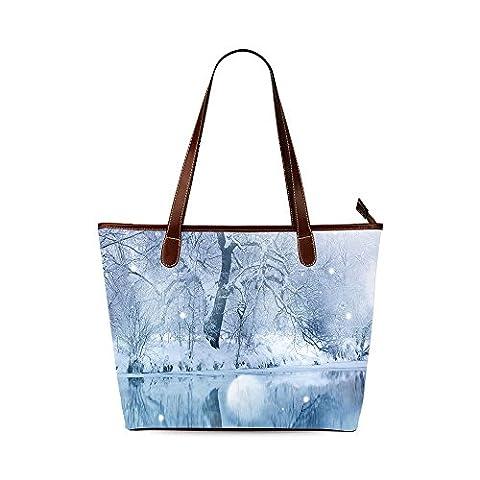 Winter Custom Interest Print Tote Bag - Earthway Bag Seeder