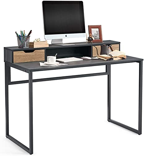 47 inch Home Office Desk Writing Study Gaming Desk