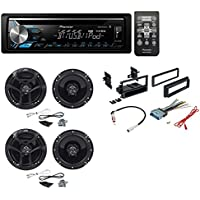 Pioneer DEH-X3900BT Single DIN Bluetooth In-Dash CD/AM/FM Car Stereo Receiver With JVC 300W 6.5 2-Way Car Speakers+Dash Kit+ Wire Harness+ Radio Antenna for Buick Cadillac Chevrolet Gmc Hummer
