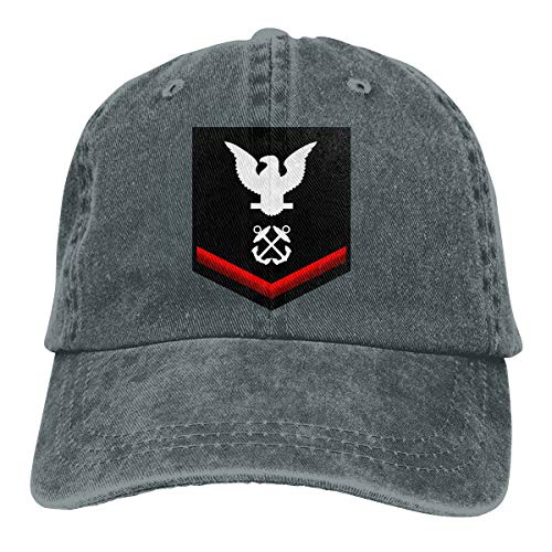 (Navy Petty Officer Third Class Shoulder Patch Rate Insignia Red Adjustable Baseball Caps Denim Hats Cowboy Sport Outdoor)