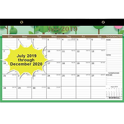 Desk Calendar 2019-2020 - Desk Calendar July 2019-2020 17