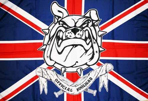 OFFICIAL HOOLIGAN UNITED KINGDOM FLAG 3' x 5' - UK FOOTBALL FLAGS 90 x 150 cm - BANNER 3x5 ft Light polyester - AZ FLAG by AZ FLAG