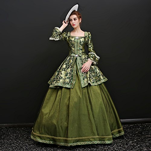 Zukzi Women's Floor Length Victorian Dress Costume Masquerade Ball Gowns, X7932, Customized by Zukzi (Image #3)