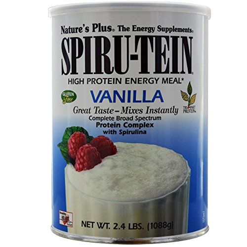 Nature's Plus, Spiru-Tein High Protein Energy Meal, Vanilla, 2.4 lbs (1088 g) - 2PC