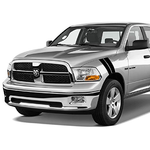Bubbles Designs 2X Stickers Truck Bed or Car Stripe Compatible with Dodge Hemi Turbo Ram Pick up s38
