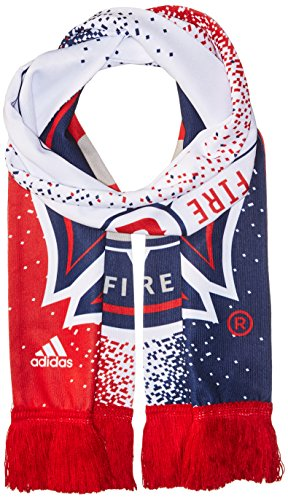 fan products of MLS Chicago Fire Adult Unisex MLS SP17 Fan Wear Sublimated Scarf with Fringe,Osfa,Red