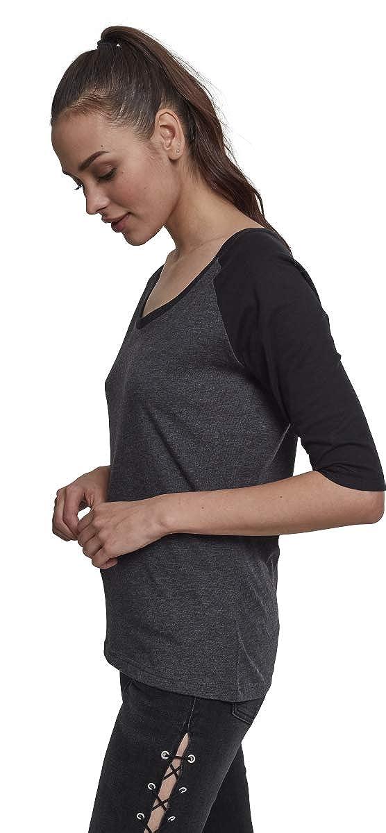 Urban Classics Damen Ladies 3//4 Contrast Raglan Tee T-Shirt
