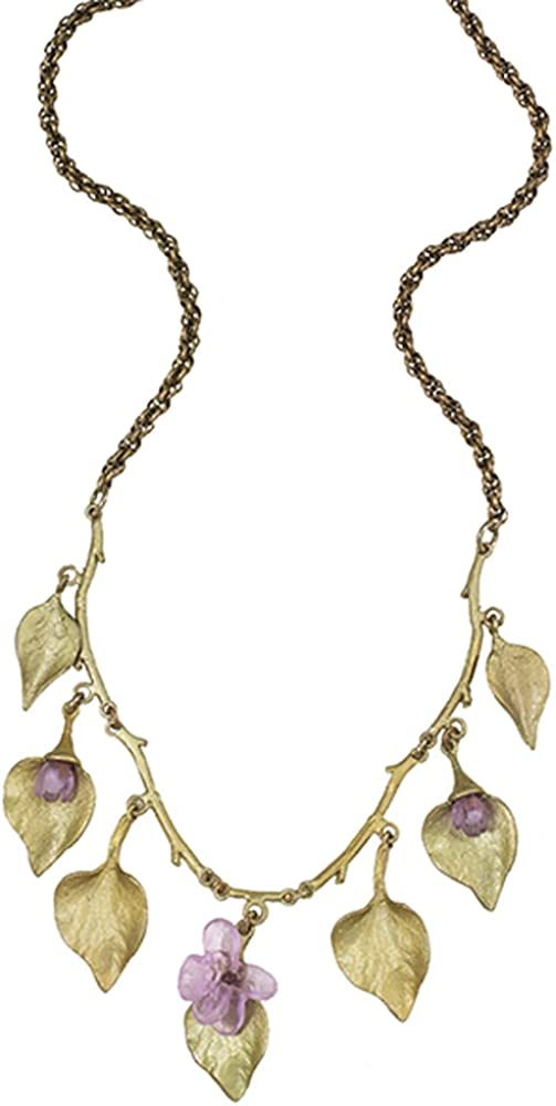 Lilac Multi Leaf Necklace by Michael Michaud for Silver Seasons/…