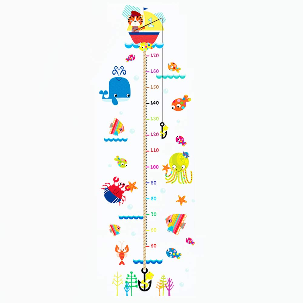 Child Height Chart Wall Stickers with Various sea Creatures (with sea Creatures) E-harvest