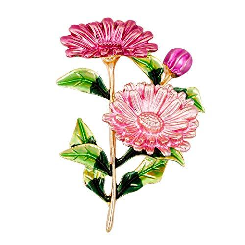 HAISWET Beautiful Brooch Flower Brooch Pin Sunflower for Women Gold Tone