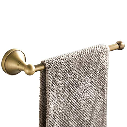 Flybath Open Towel Ring Bar Antique Brass Hanger Holder Wall Mounted, 29 cm / 11.4 inches, Brushed Bronze