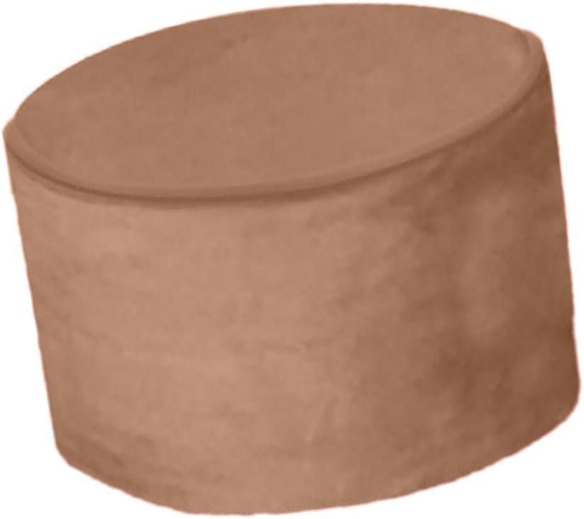 FidgetGear Solid Color Bean Bag Cover Ottomans Round Stool Chair Cover Without FillingBrown