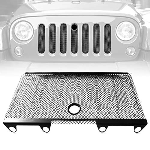ICARS 3D Front Mesh Grill Inserts Grille Bug Net with Key Hood Lock for 2007-2018 Jeep Wrangler JK JKU Accessories & Unlimited Rubicon Sahara ()